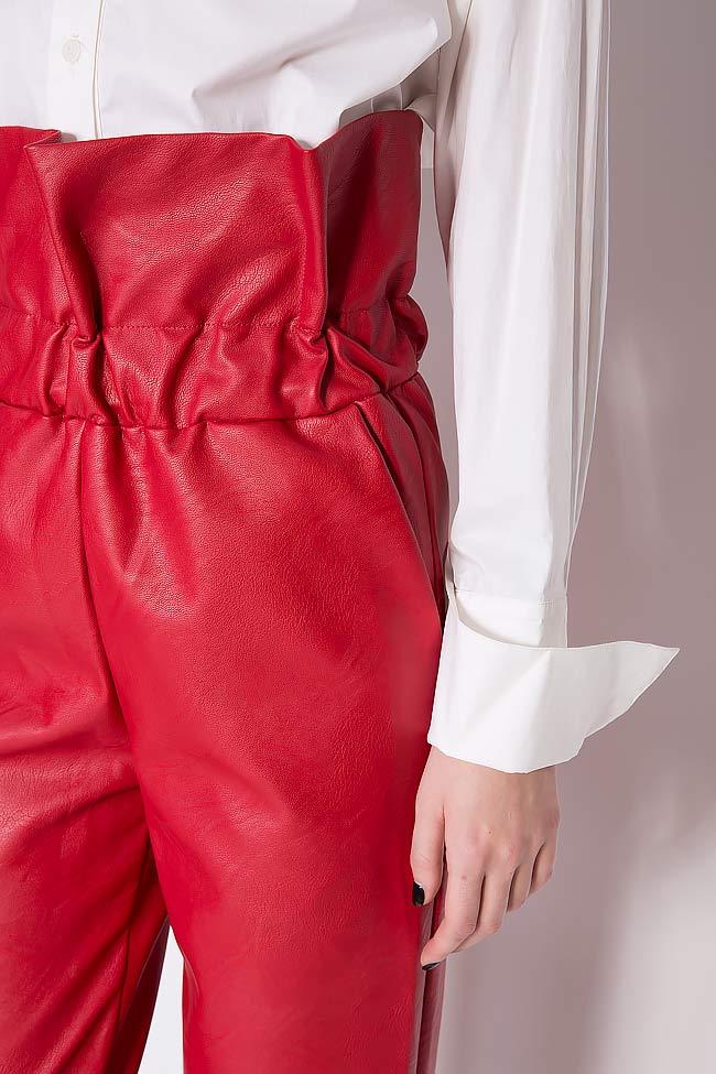 Pantalon taille haute, en cuir écologique Hard Coeur image 3