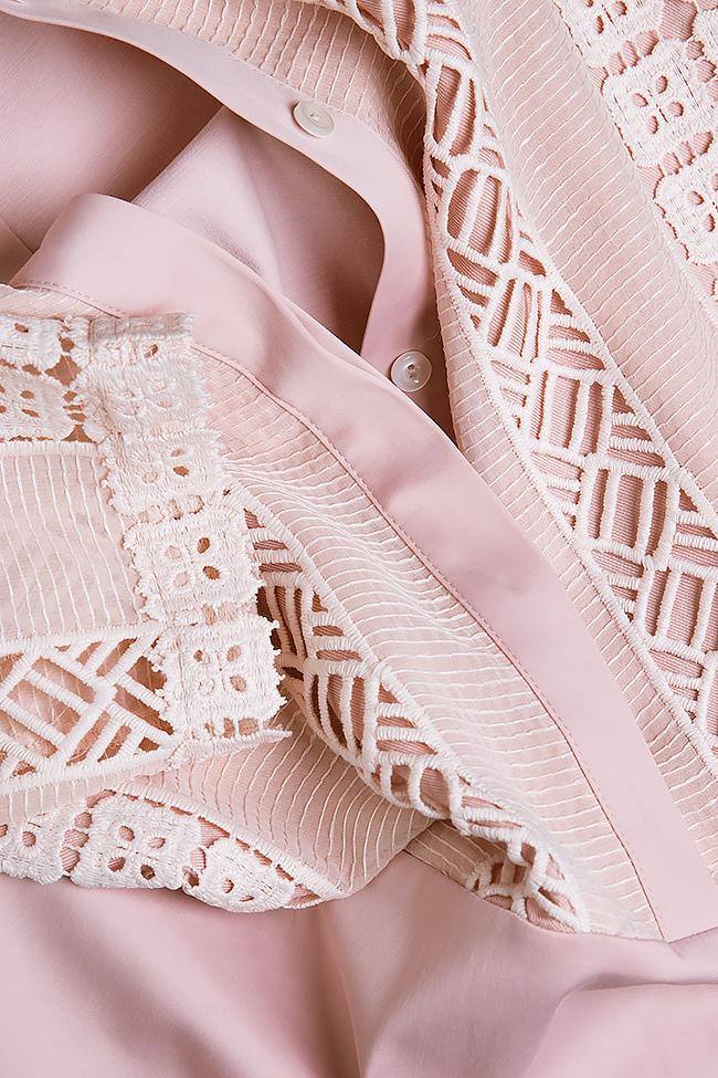 Robe en coton avec des insertions de dentelle guipure BLUZAT image 4