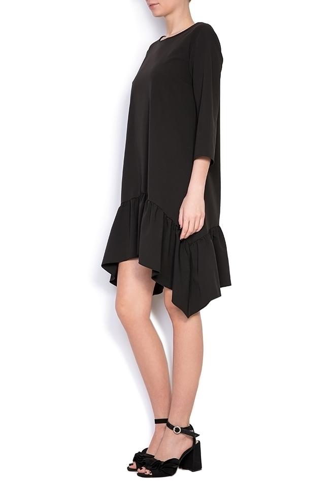 Asymmetric crepe mini dress BLUZAT image 1