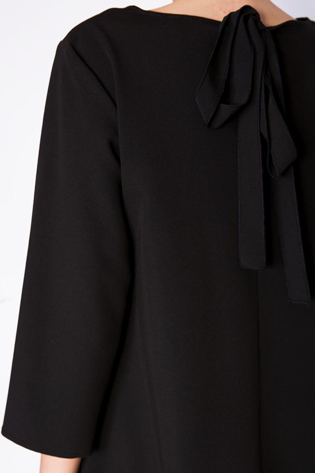 Asymmetric crepe mini dress BLUZAT image 3