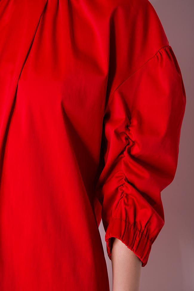 Rochie mini din bumbac  Bluzat imagine 3