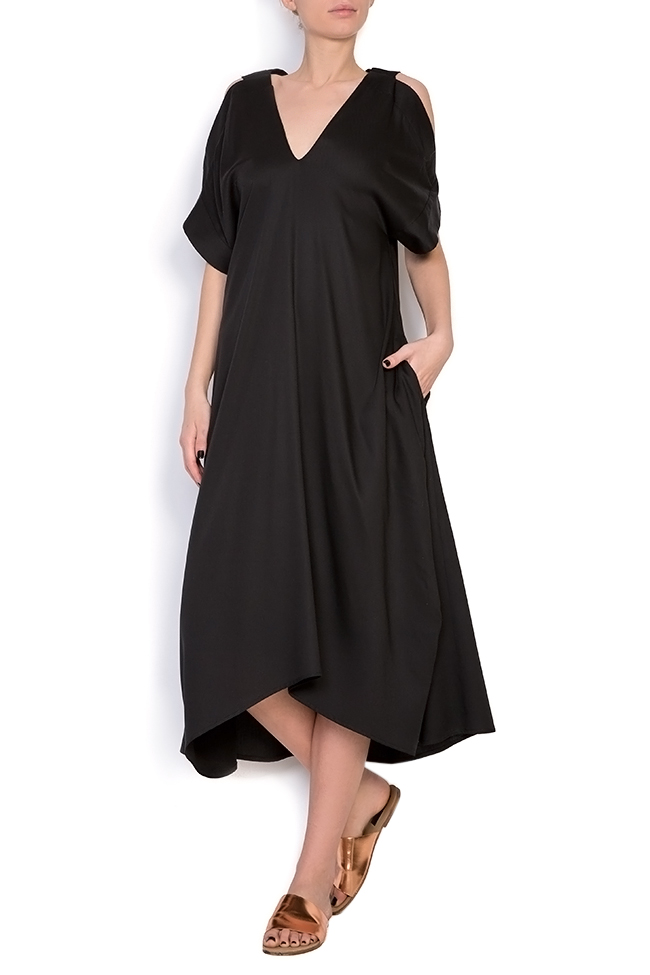 Cold-shoulder asymmetric dress Bluzat image 0