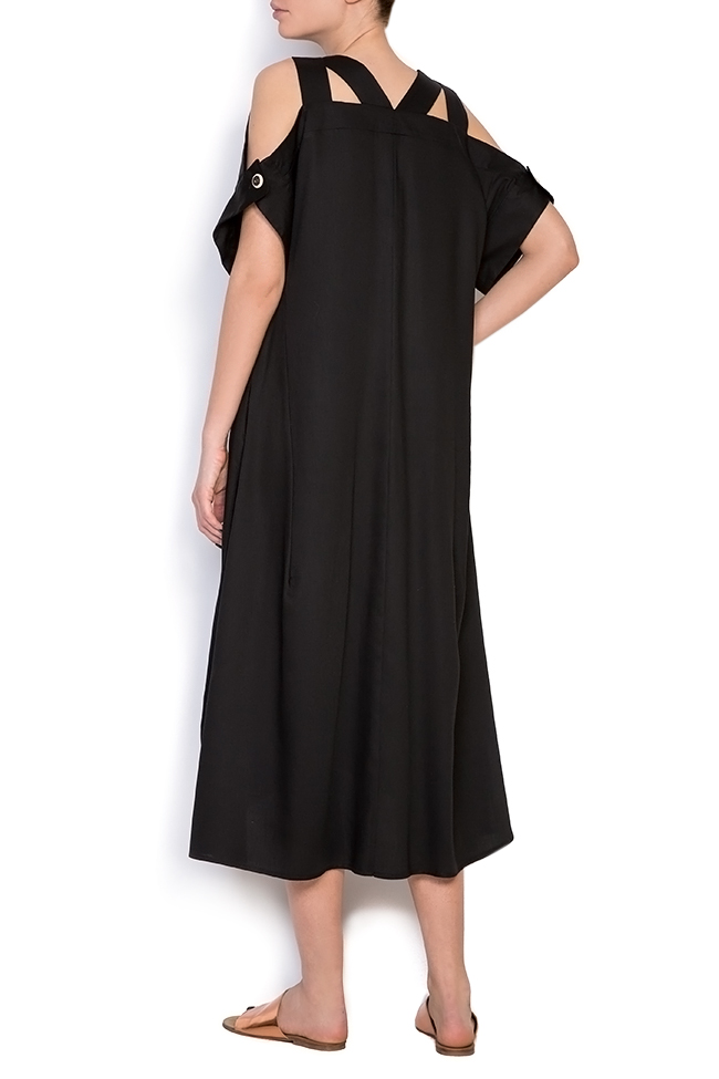 Cold-shoulder asymmetric dress Bluzat image 2