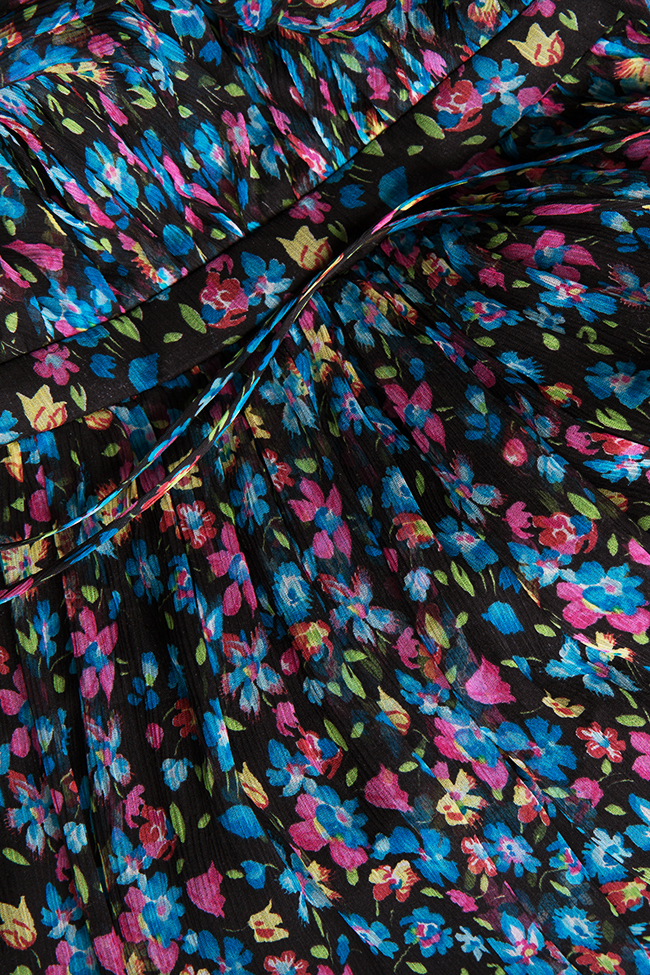 Floral-print crepe mini dress Manuri image 4