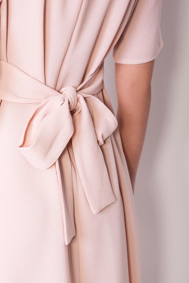 Robe en crêpe de coton, avec cordon BLUZAT image 3