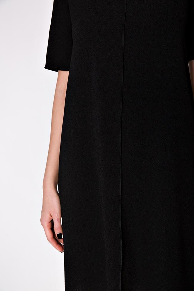 Rochie din crep de bumbac cu cordon Bluzat imagine 3