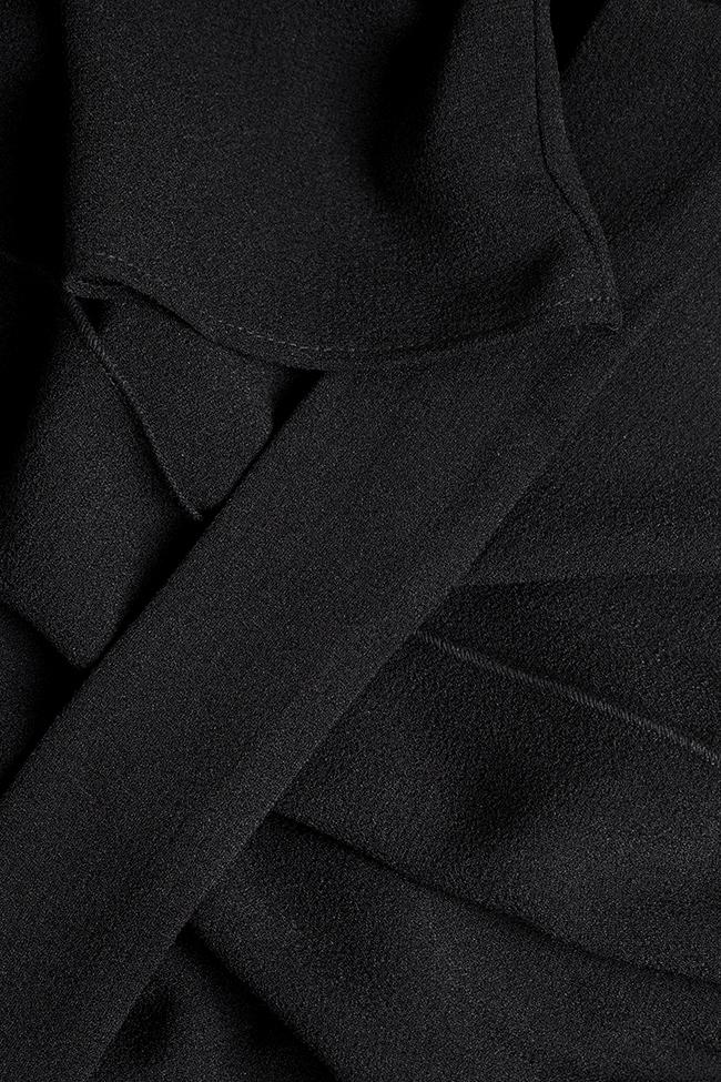 Rochie din crep de bumbac cu cordon Bluzat imagine 4
