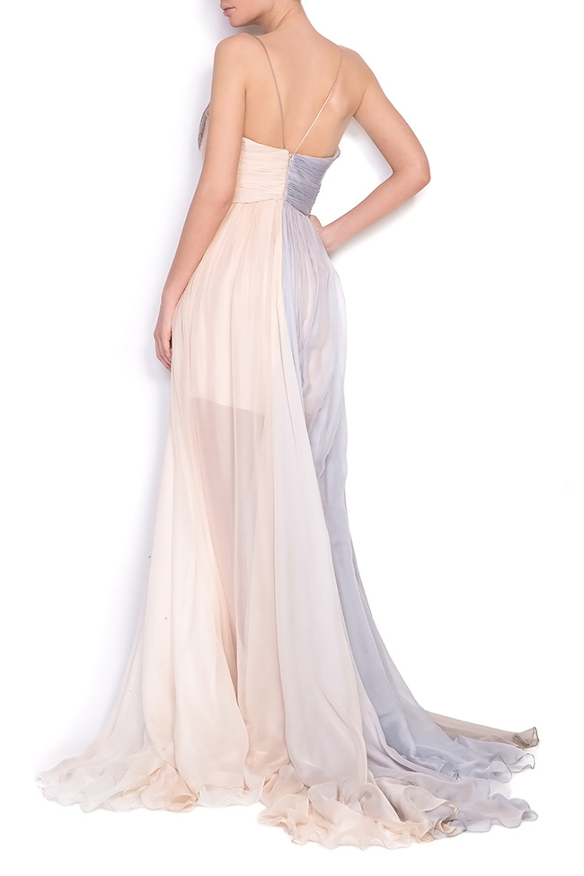 Embellished silk gown Manuri image 2