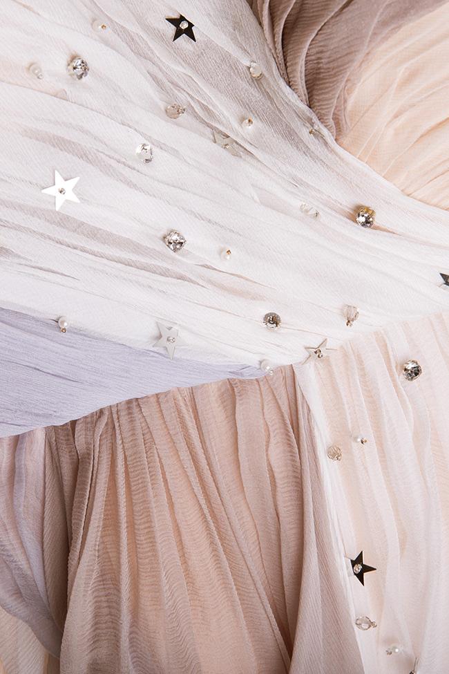 Embellished silk gown Manuri image 4