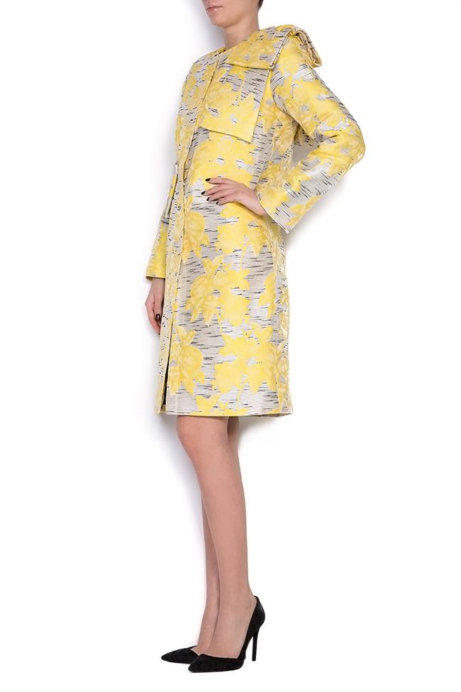 Pan bow-embellished jacquard coat LRM image 1
