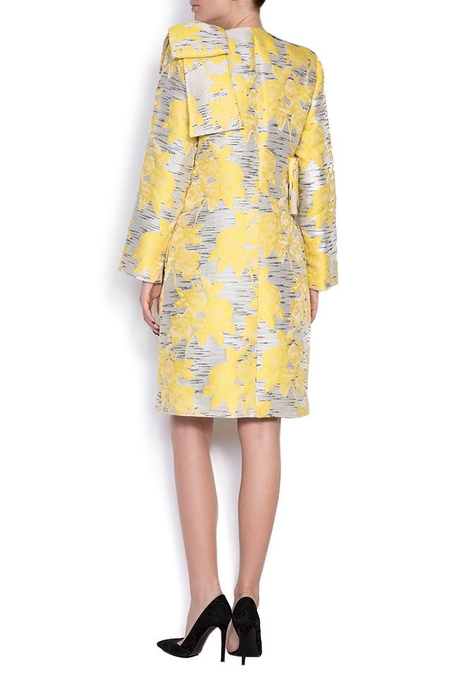 Pan bow-embellished jacquard coat LRM image 2