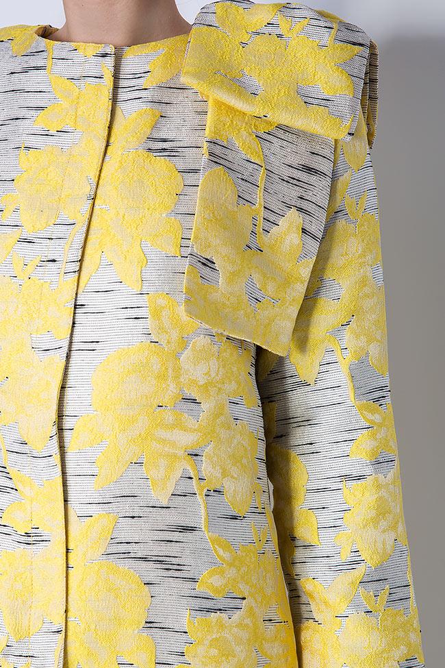 Pan bow-embellished jacquard coat LRM image 4