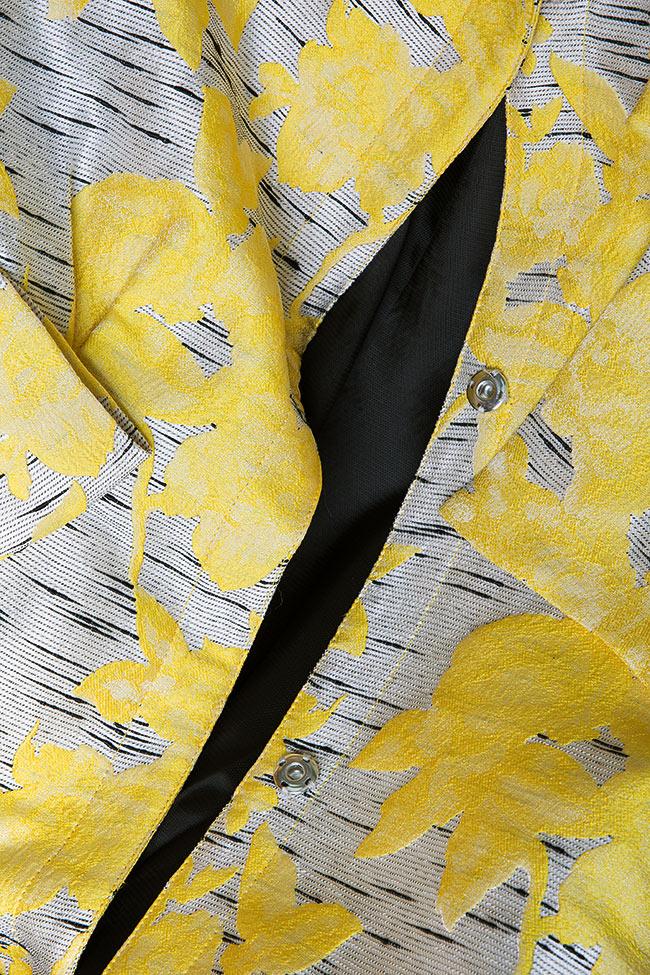 Pan bow-embellished jacquard coat LRM image 5