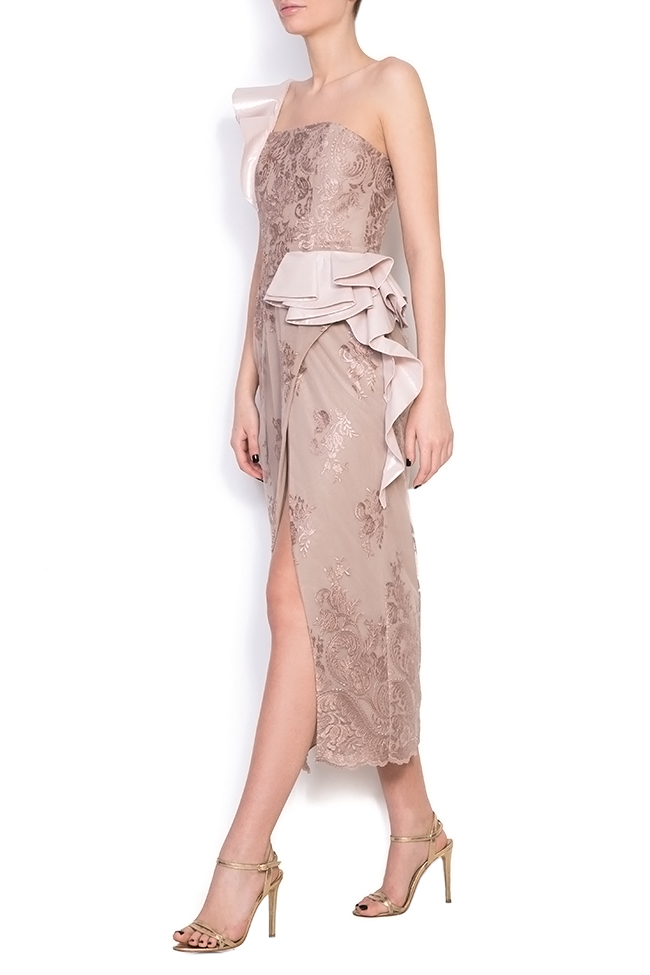 Lynnette silk lace midi dress Simona Semen image 1