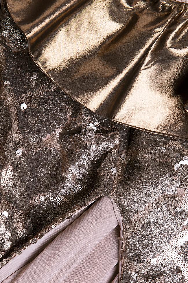 Rochie din paiete si voal peliculizat Liana Simona Semen imagine 4