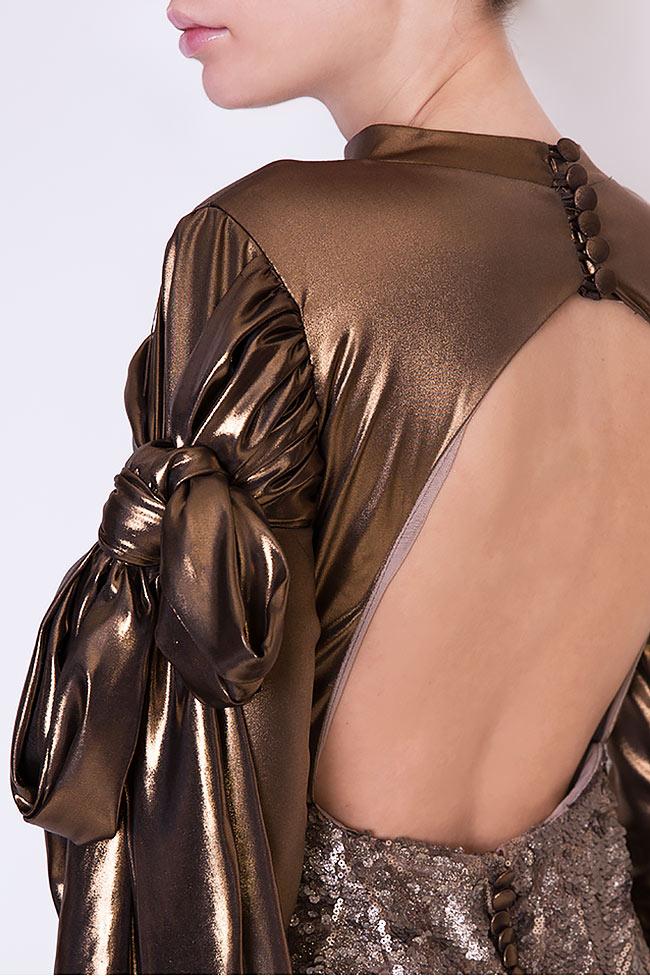 Robe sirène en voile et sequins, Leela Simona Semen image 3
