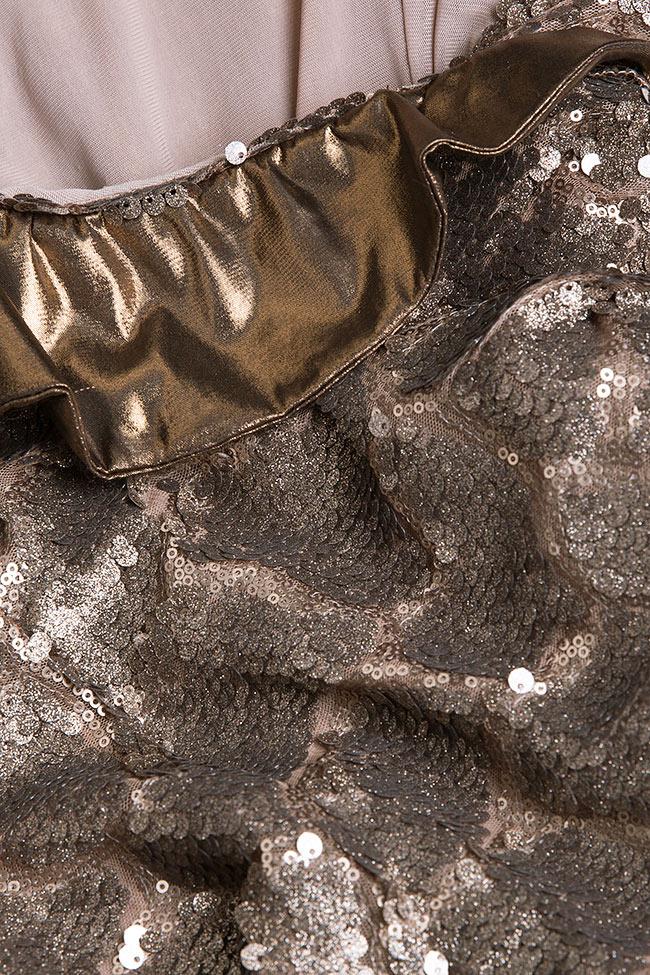 Robe sirène en voile et sequins, Leela Simona Semen image 4
