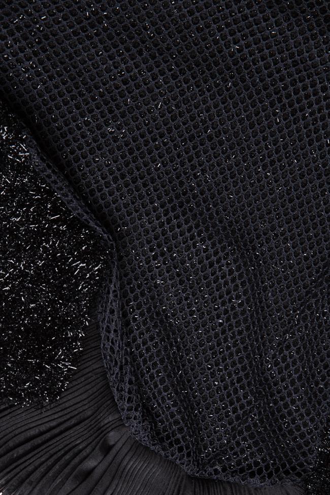 Maxx mesh-paneled cotton-blend metallic knitted top Dorin Negrau image 4
