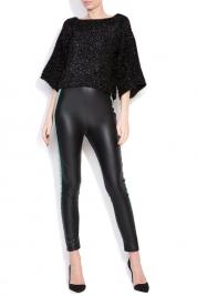 Dorin Negrau Maxx mesh-paneled cotton-blend metallic knitted top