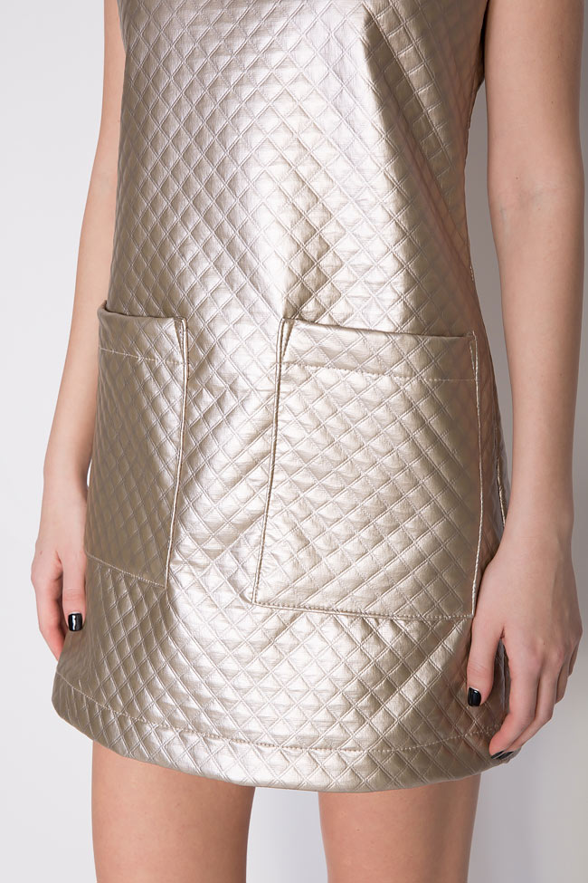 Quilted faux-leather dress Hard Coeur image 3