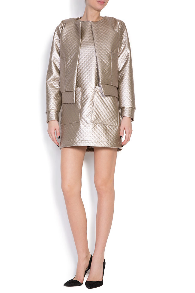 Quilted faux-leather dress Hard Coeur image 4