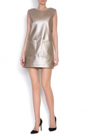 Hard Coeur Quilted faux-leather dress