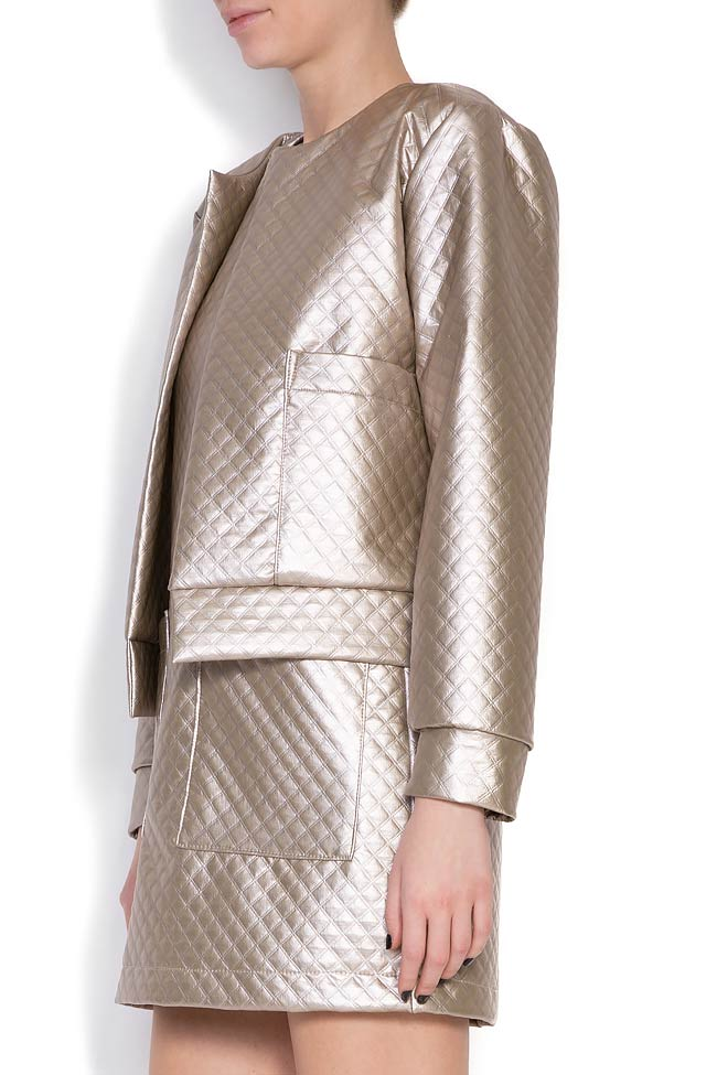 Quilted faux-leather jacket Hard Coeur image 1