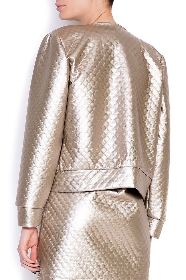 Quilted faux-leather jacket Hard Coeur image 3