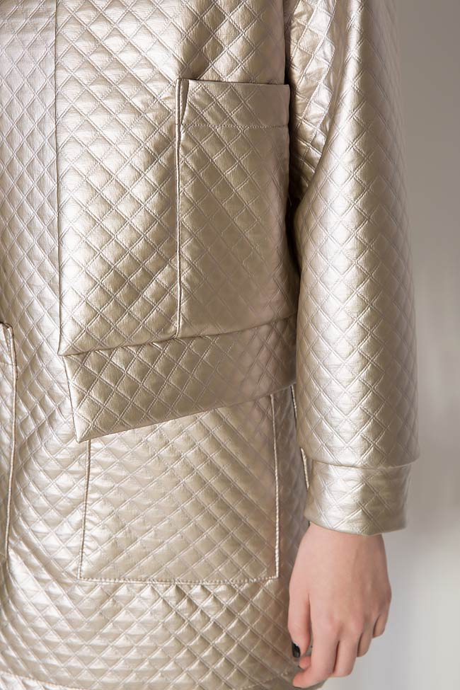 Quilted faux-leather jacket Hard Coeur image 2