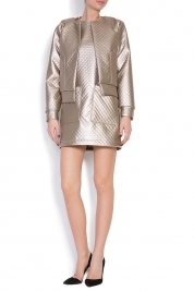 Hard Coeur Quilted faux-leather jacket