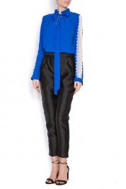 Izabela Mandoiu Lace-trimmed cotton blouse