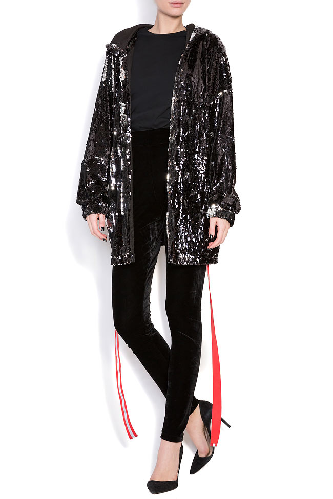 Sequined oversized sweatshirt Hard Coeur image 0