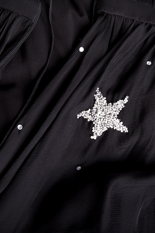 Embellished star silk gown Manuri image 4