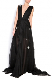 Manuri Embellished star silk gown