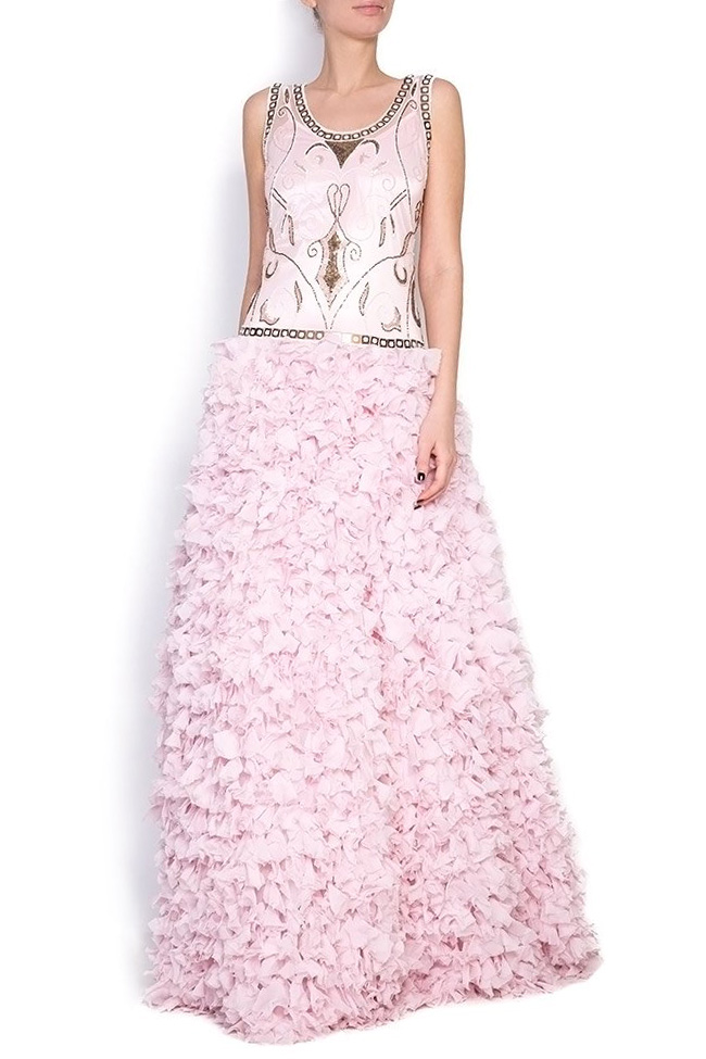 Embellished silk gown Elena Perseil image 0