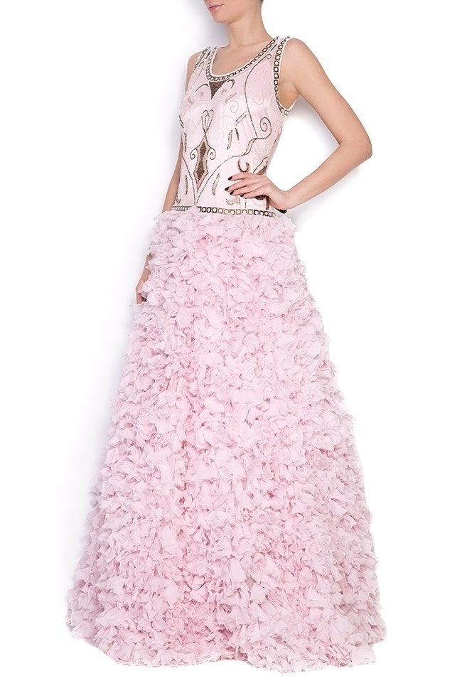 Embellished silk gown Elena Perseil image 1