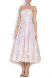 Elena Perseil Lilly silk-organza midi dress