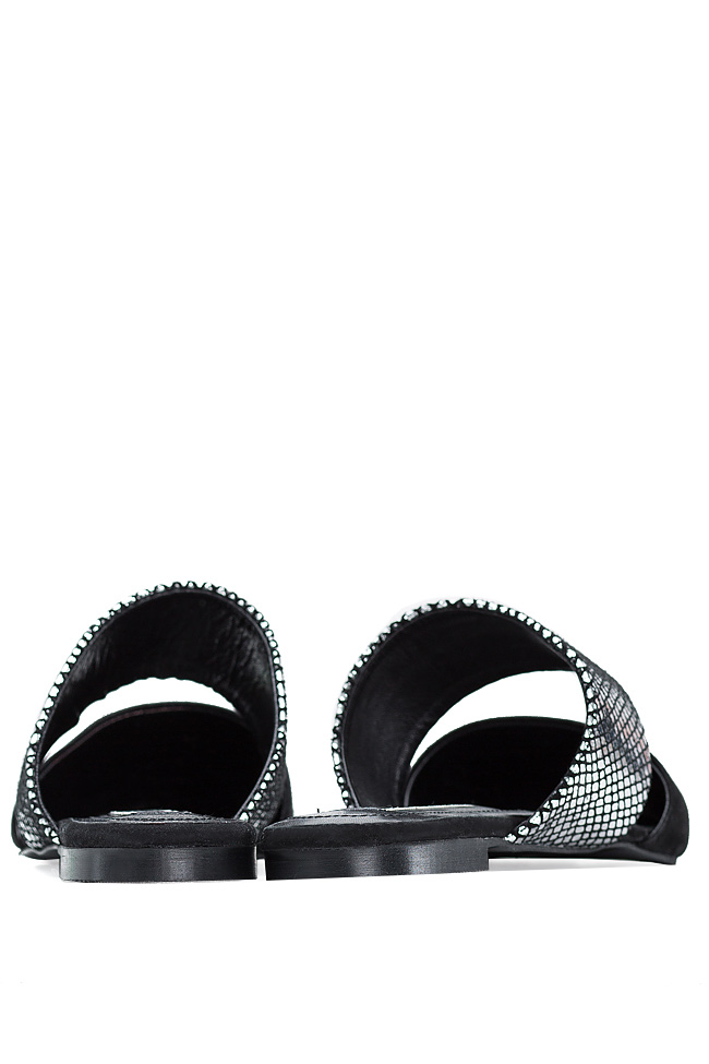 Snake-effect suede slippers Ana Kaloni image 3