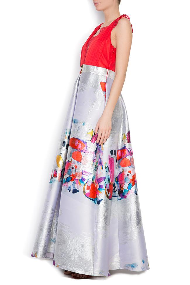 Printed silk taffeta gown Elena Perseil image 1