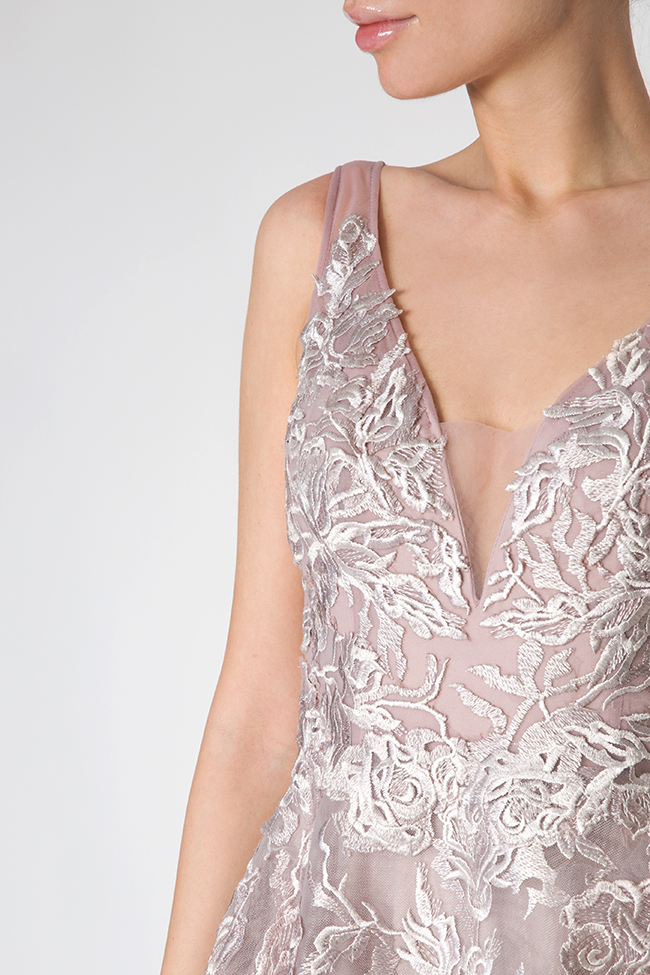 Embroidered silk tulle gown Elena Perseil image 3
