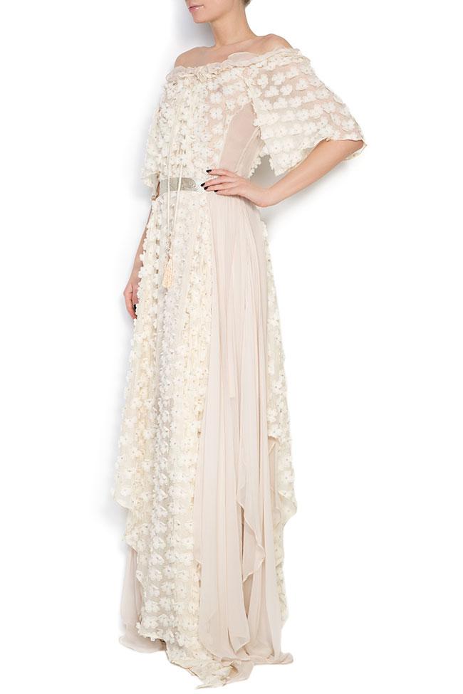 Robe asymétrique en soie, avec des broderies cousues à la main Elena Perseil image 1