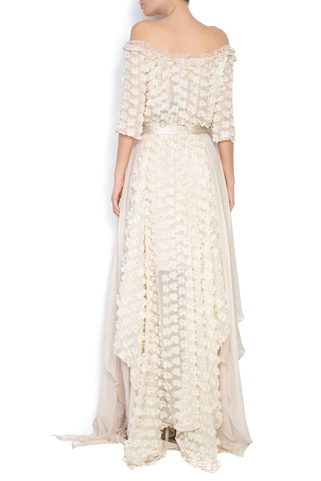 Robe asymétrique en soie, avec des broderies cousues à la main Elena Perseil image 2
