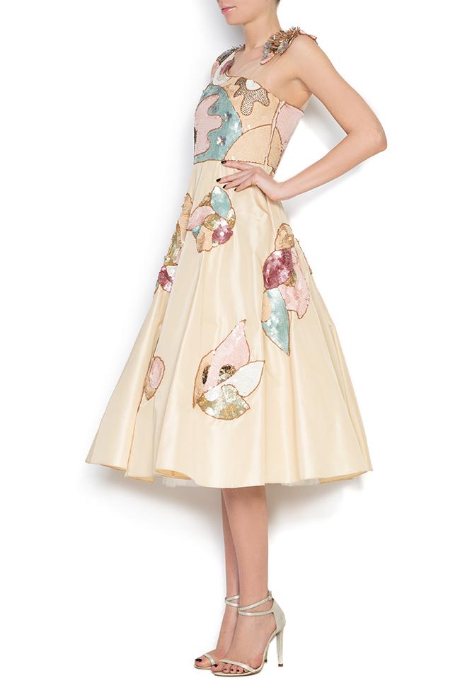 Embroidered silk taffeta tulle dress Elena Perseil image 1