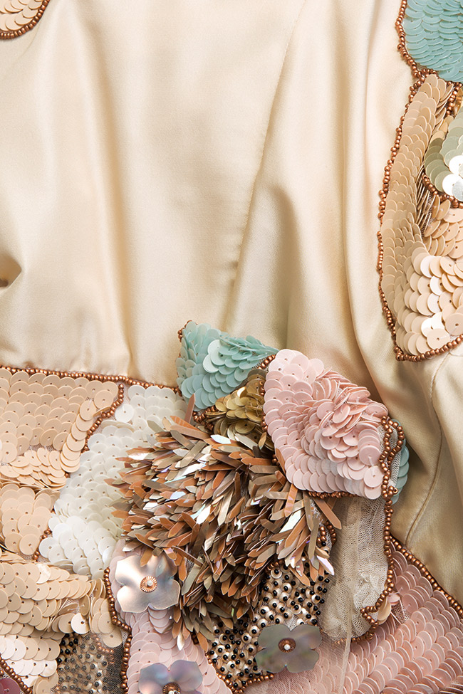 Embroidered silk taffeta tulle dress Elena Perseil image 4
