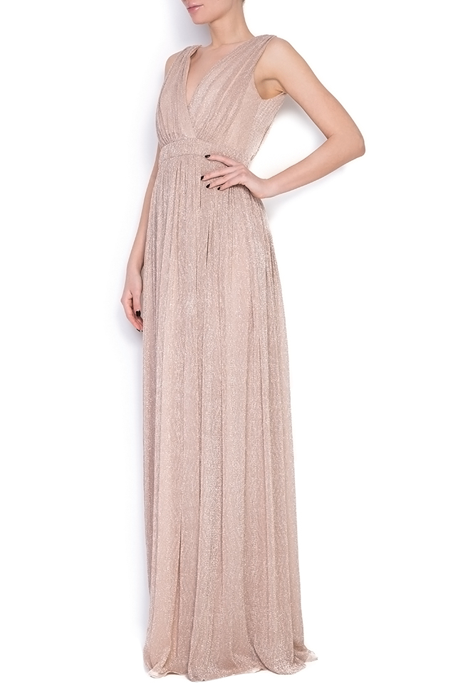 Arena metallic silk maxi dress Elena Perseil image 1