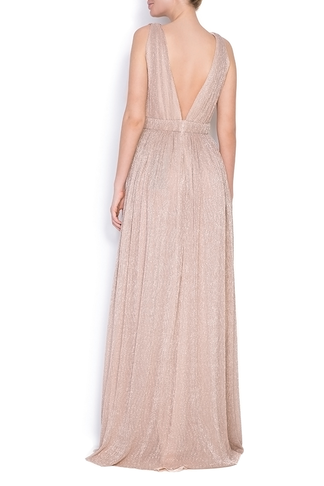 Arena metallic silk maxi dress Elena Perseil image 2