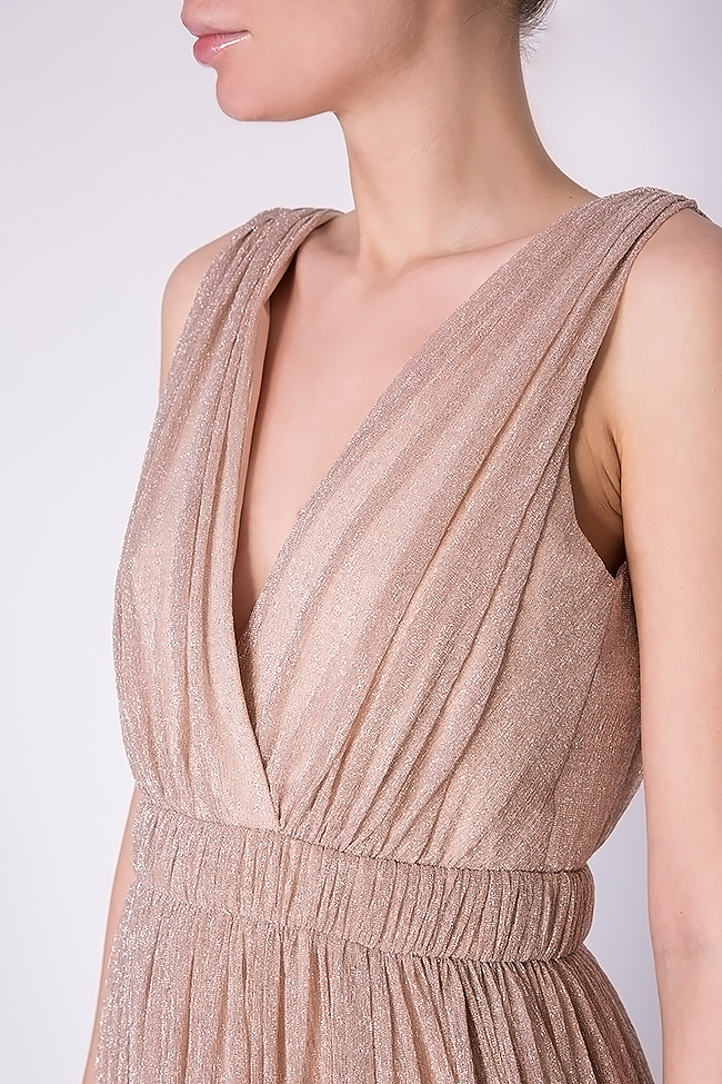 Arena metallic silk maxi dress Elena Perseil image 3