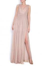 Elena Perseil Arena metallic silk maxi dress