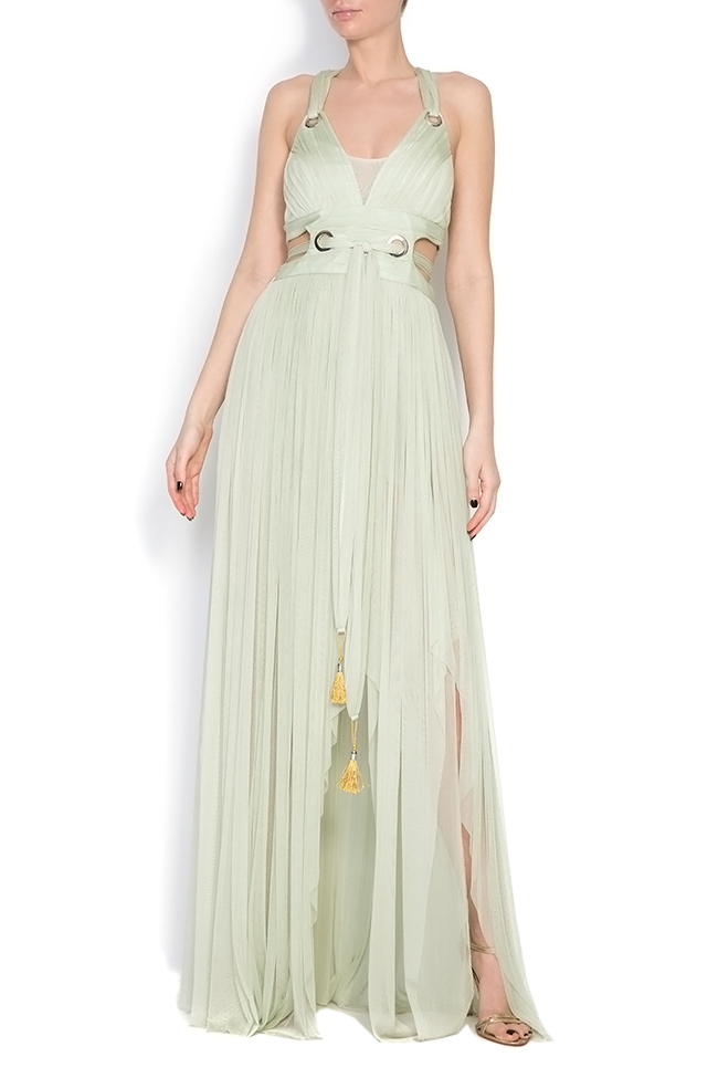 Silk tulle maxi dress Elena Perseil image 0