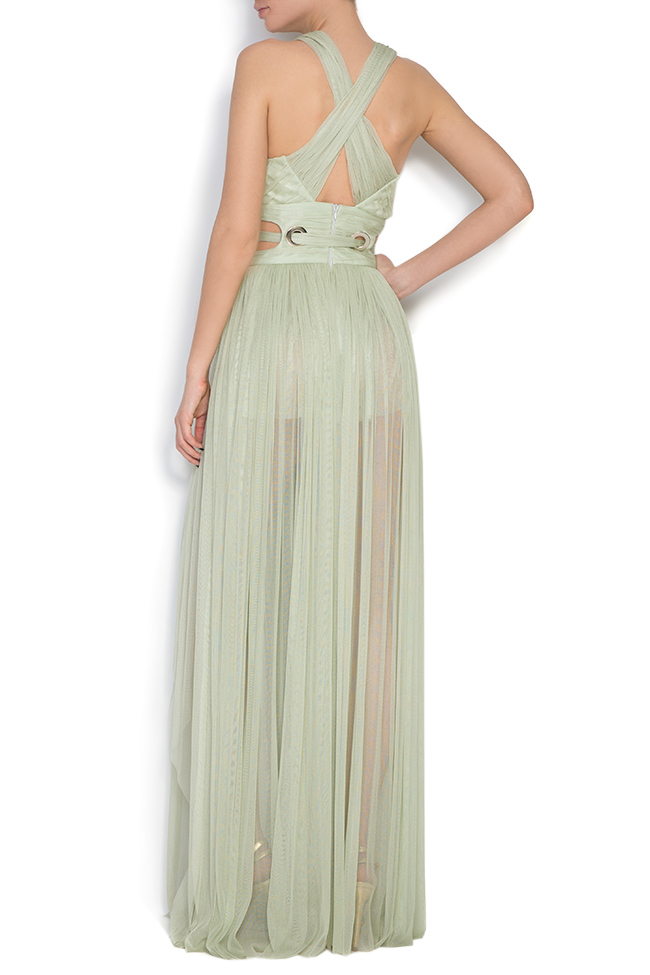 Silk tulle maxi dress Elena Perseil image 2